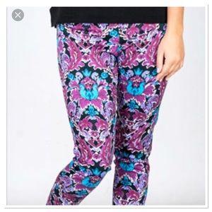 Tracy Negoshian Watercolor Floral Chino Pants
